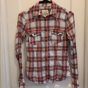 H&M Button Down Plaid Shirt .